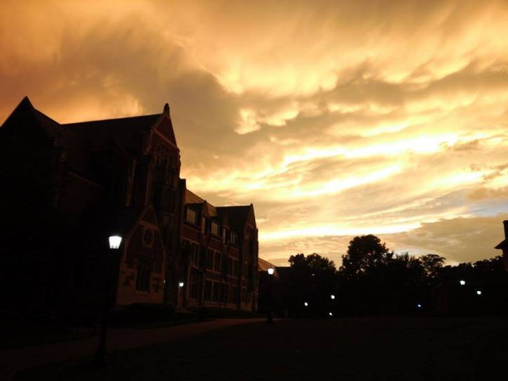 A beautiful September sunset at Agnes Scott captured by Yeji Lizzy Jung, an exchange student from South Korea