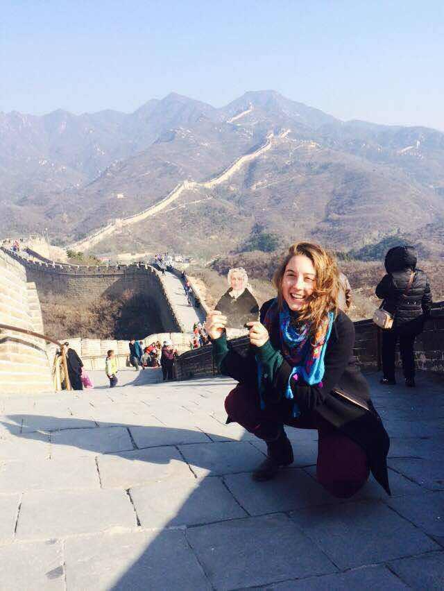 Emaline Laney (class of 2016) during her study abroad in Duke Kunshan University in Jiangsu Province, China.
