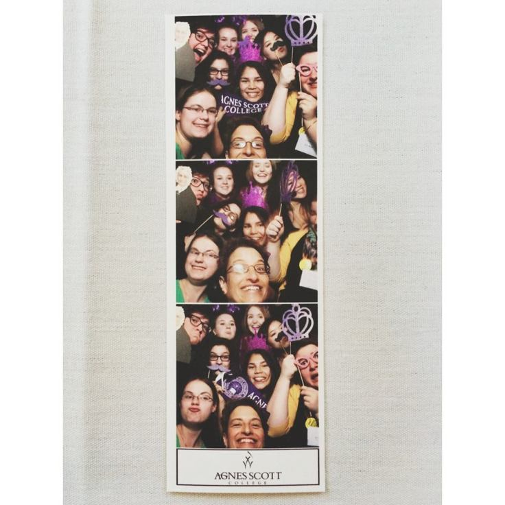 Who wouldn't want to use a photo booth with President Elizabeth Kiss? Photo of Zoe Katz